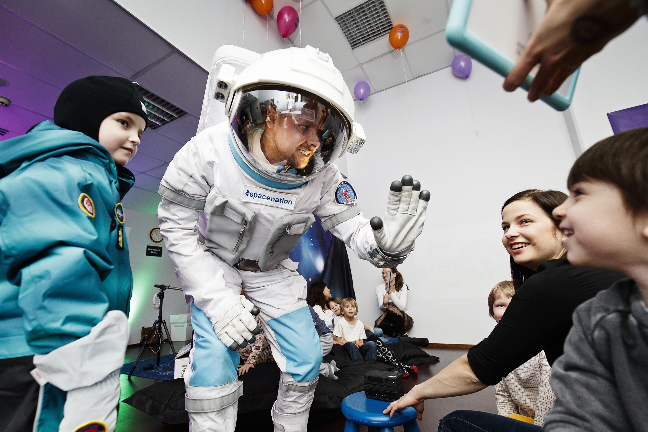 """Hi there, astronaut! Fun Academy was showcasing Space Nation Kids Future Astronaut Training Programme, an adapted version of the real NASA training for astronauts. """"Kids don't even notice they're learning essential life skills whilst having fun,"""" Fun Academy's head of marketing Elena Piñero pointed out."""