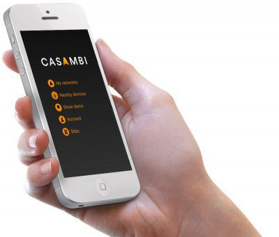 Casambi's smart lighting system lets users control lights and create programmable lighting environments through a mobile app.