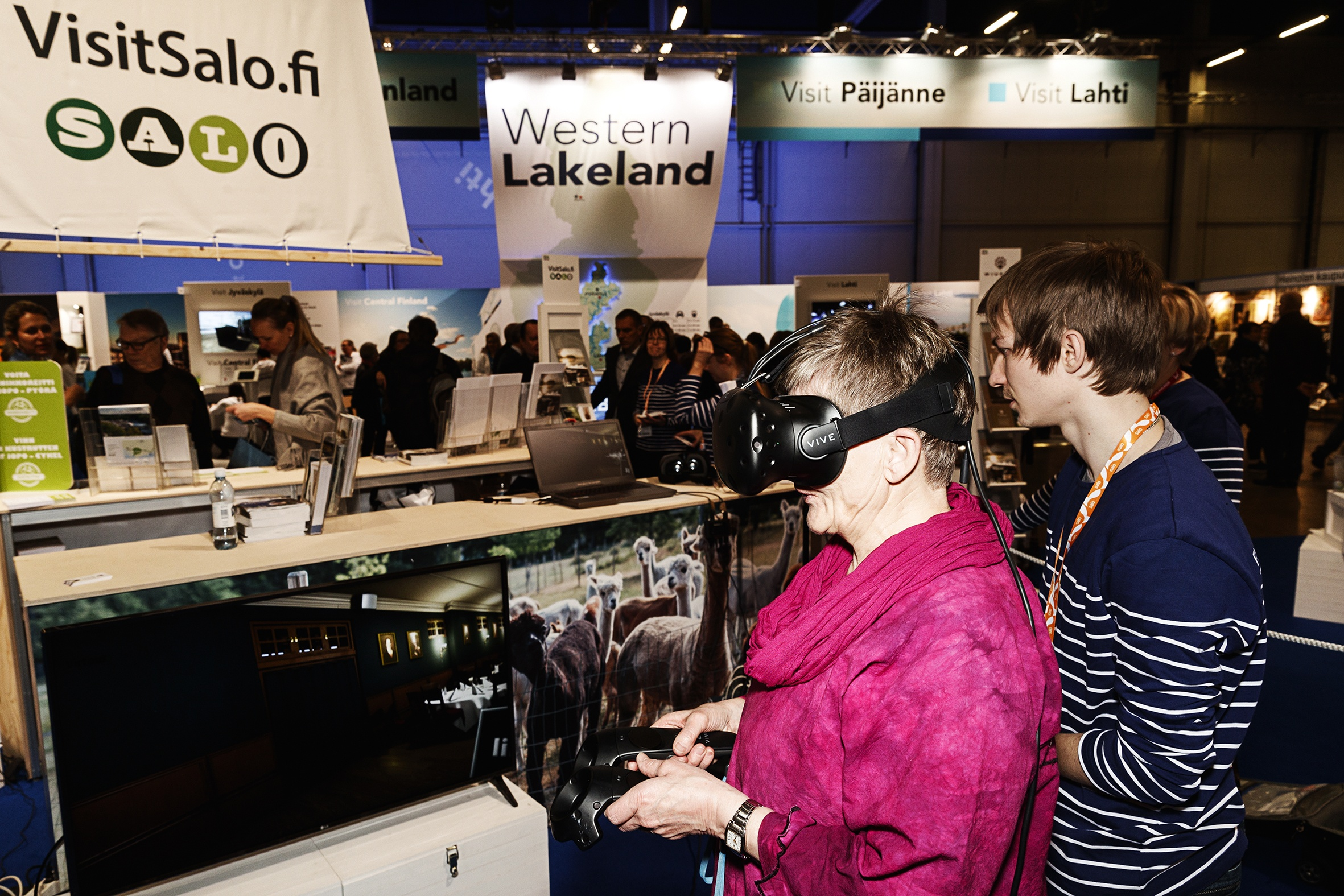 """How about trying a bit of virtual travelling? Visit Salo is letting people pop into some of the area's attractions via a VR headset, which also enables virtual foraging and fishing. But should one still actually visit Salo in real life? """"Of course!"""" says project coordinator Tina Koski. """"There's plenty more, including the Electronics Museum, summer markets and beautiful nature."""""""