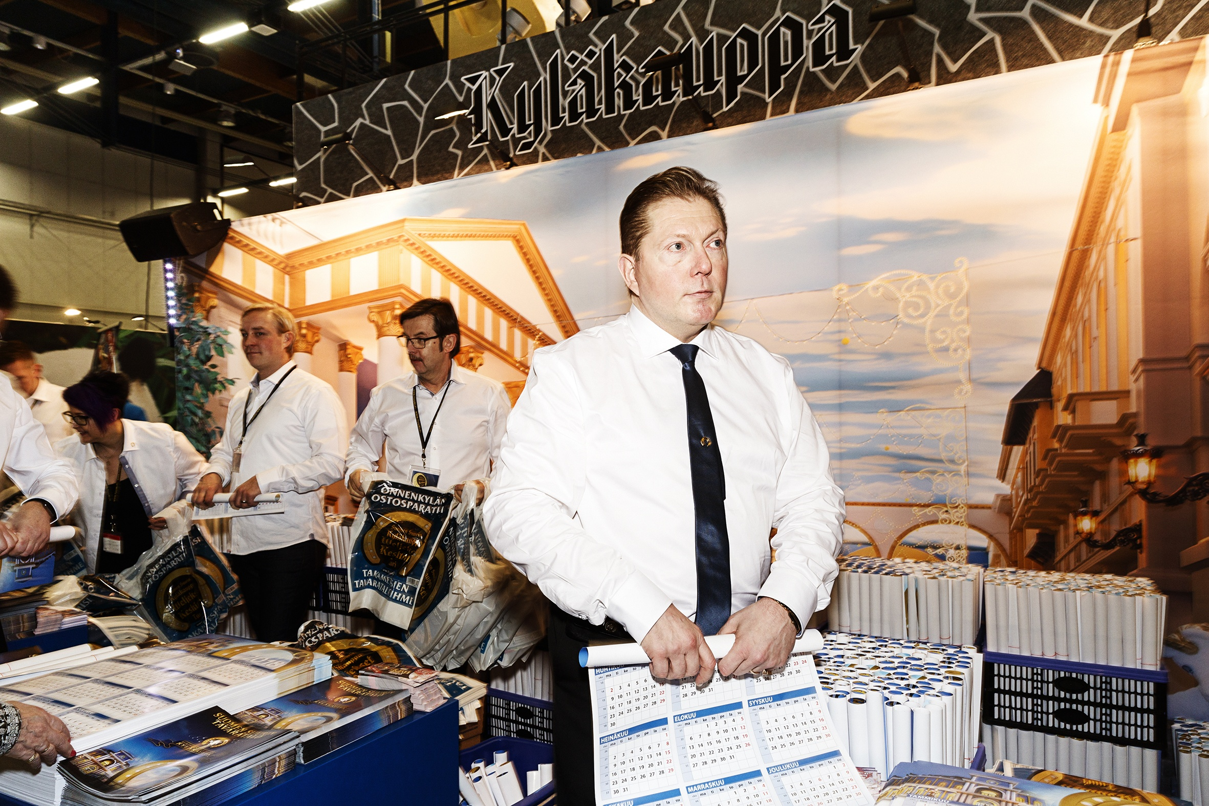 """Vesa Keskinen is one of the most famous businessmen inside Finland's borders, and his department store in Tuuri gathers millions of visitors every year. Keskinen's first time at the Matka fair was back in 1996. """"I was walking around with a two-kilogram golden horseshoe telling everyone about the store,"""" he recalls. """"No one had heard about it, but everyone wanted to try holding the horseshoe. Security had to keep a keen eye on me, as its value was about 70 000 euros."""""""