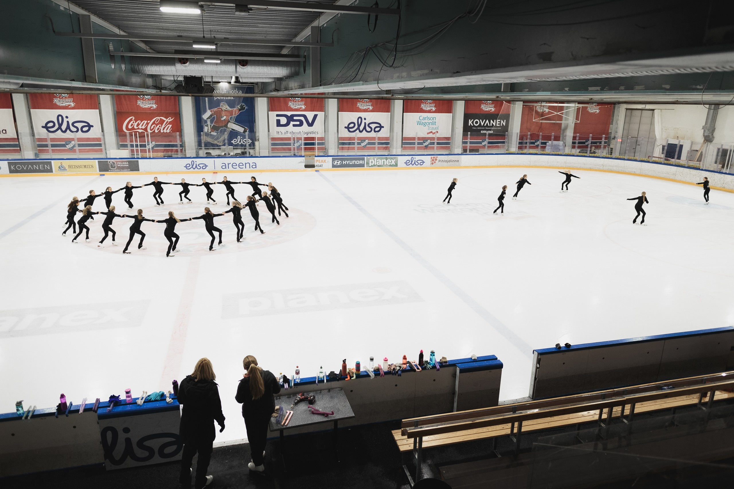 Synchronised skating has both physical and psychological elements, so it's a great sport for school children, too.