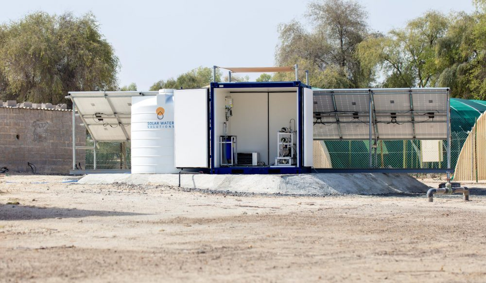 Solar Water Solutions' mobile desalination and water treatment units come in various sizes, from household devices all the way to covering the needs of entire hospitals or holiday resorts.