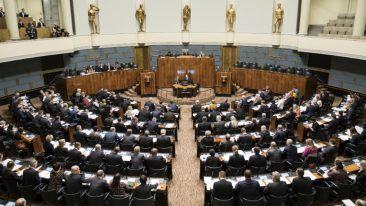 A session at Finnish Parliament. Finland was classified as a 'full democracy' along with 19 countries