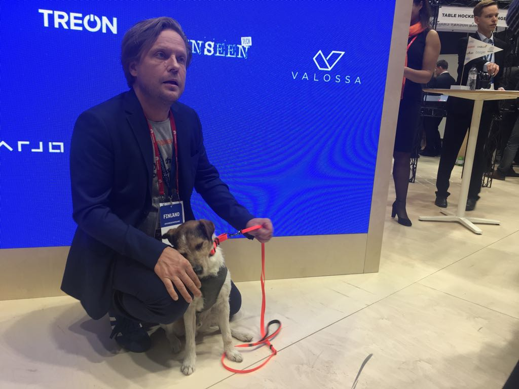 Finnish company Anaxeos proved that wearables are not just for humans, but also dogs such as Pava.