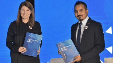 EduCluster Finland's Riikka Hassi was on hand in Malé, Maldives, to sign the agreement.