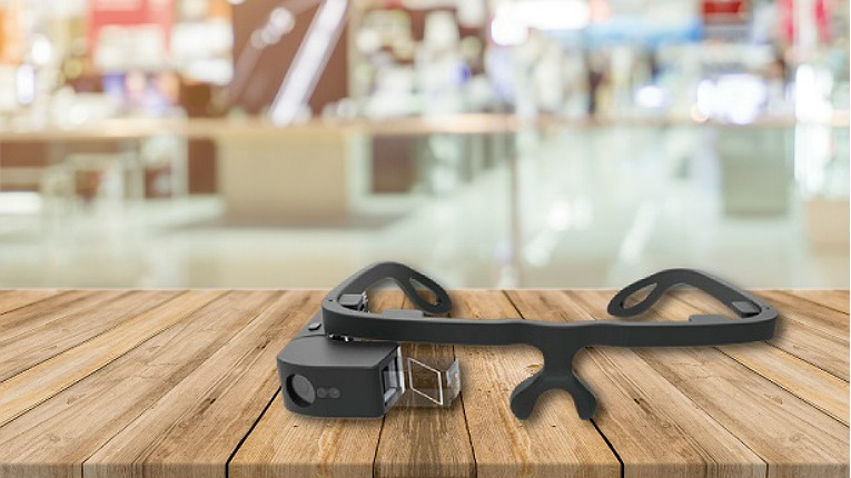 Hand gesture control is a natural, easy-to-learn way to control camera-equipped smartglasses used for content viewing and augmented reality applications. Pictured is Jorjin's J-100 Smart Glasses (EVK version).