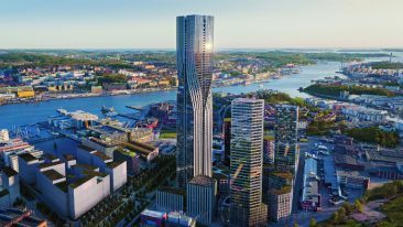 KONE will equip the soon-to-be tallest building in the Nordics, Karlatornet, with elevators. When completed the tower will rise to 245 metres in height.