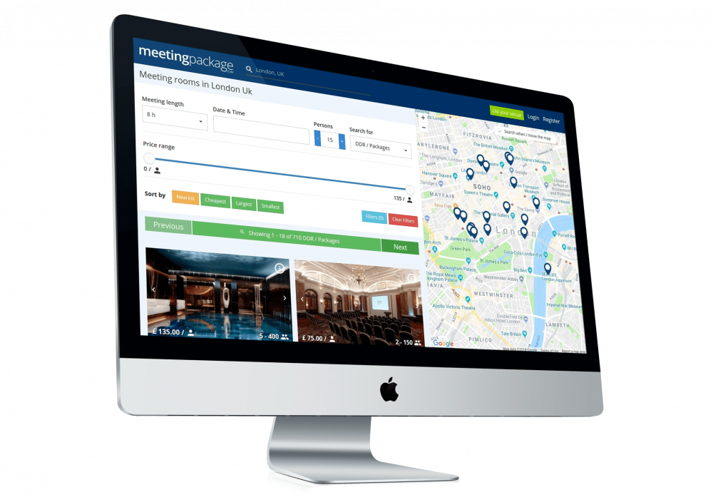 MeetingPackage.com is a global marketplace for meeting room bookings. The aim is to save time and money for both meeting organisers and venue providers.