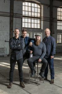 """Right from the very start, our goal was to create the best gin in the world,"" states Mikko Spoof (second from left)."