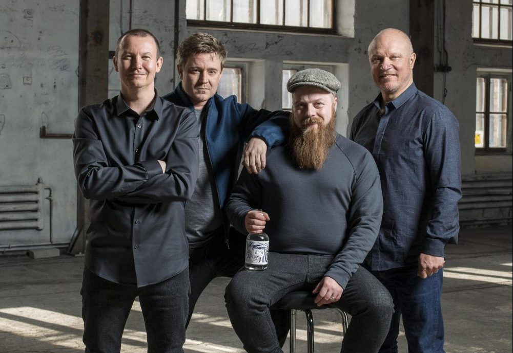 """""""Right from the very start, our goal was to create the best gin in the world,"""" states Mikko Spoof (second from left)."""