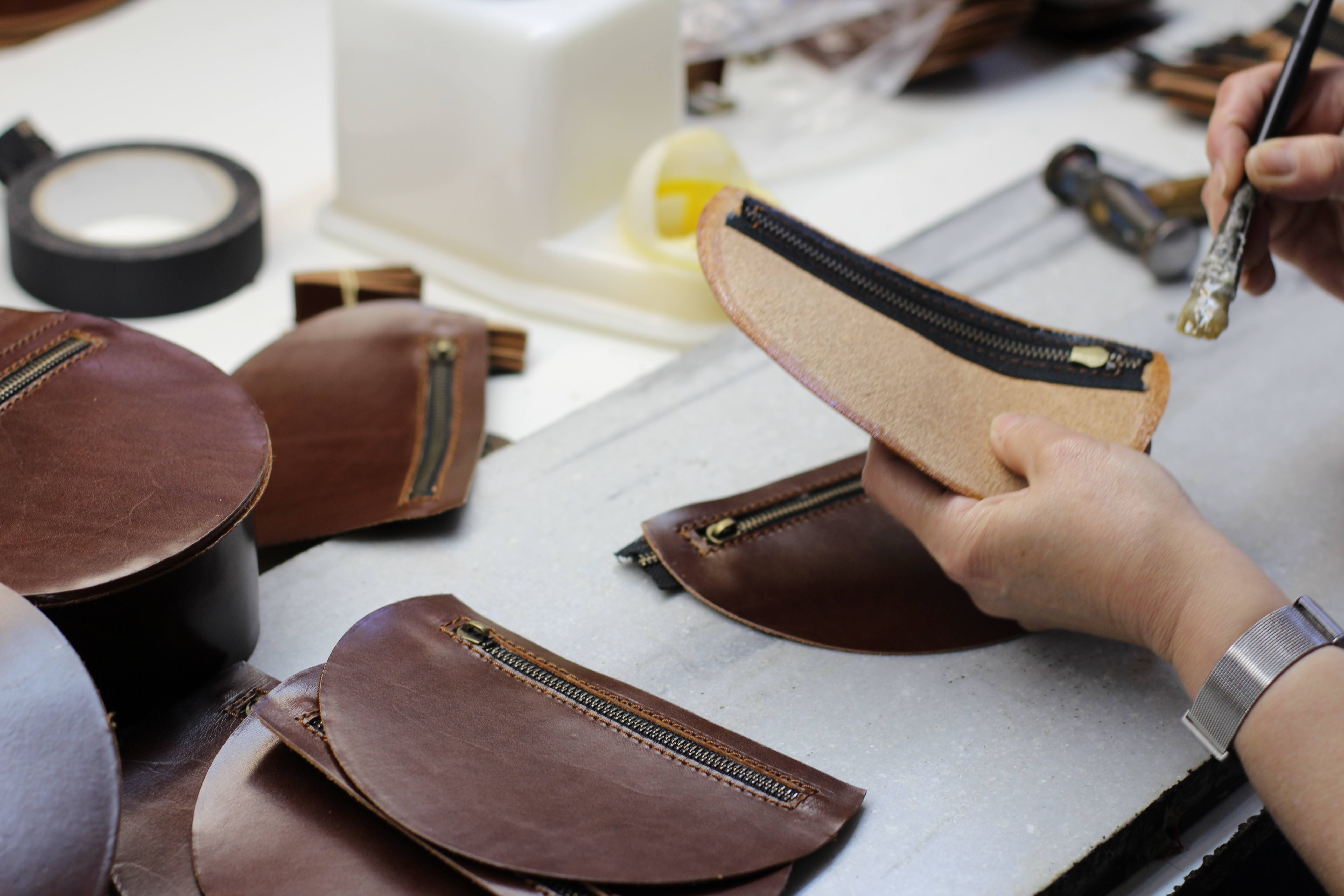 """All our bags are made by hand and unique. They are never going to be exact plastic copies, all have little differences because leather is a natural material,"" Miranda says."