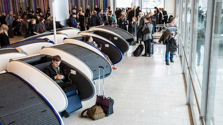 GoSleep Sleep Pods are prevalent at Helsinki Airport and have found their way to other international airports as well.