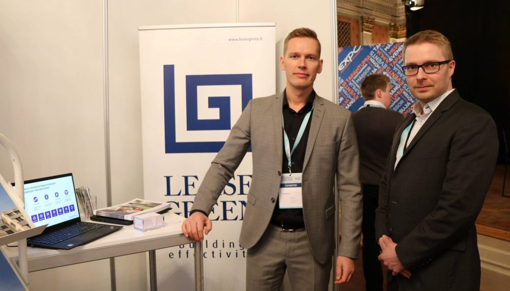 LeaseGreen personalises comprehensive solutions for improving the energy efficiency of properties. Pictured is account director Anssi Virtnanen (left) and sales manager Ari Laitinen.