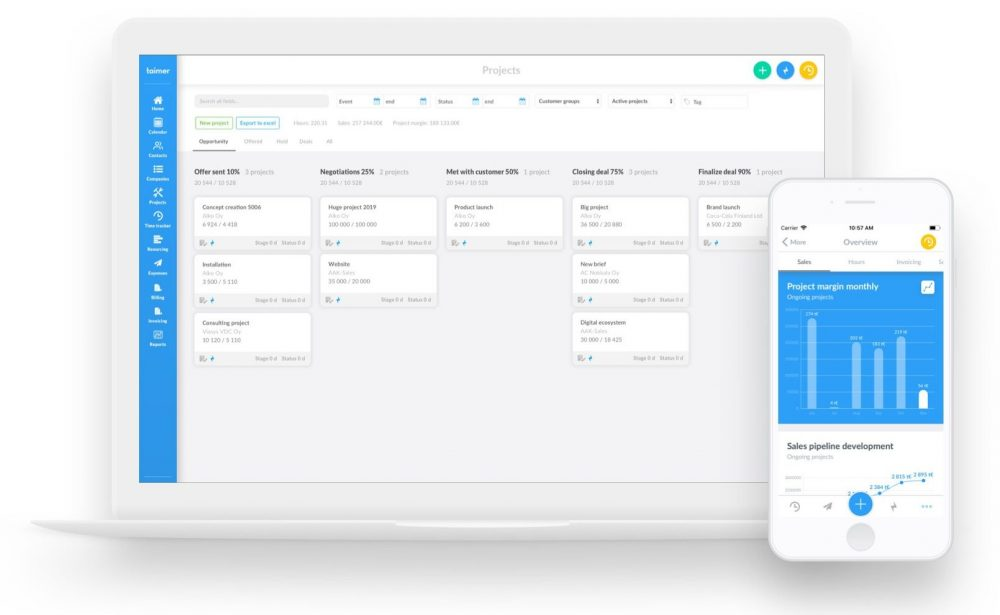 Taimer is targeting global markets with new small company and team versions of its cloud-based business management software.