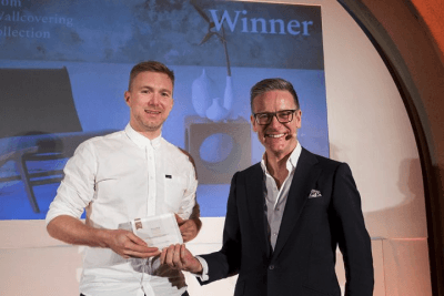 The award was collected by FEATHR founder Tom Puukko (left) at a gala event at London's Somerset House.