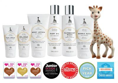 Sophie la girafe Cosmetics products have received a range of international awards.