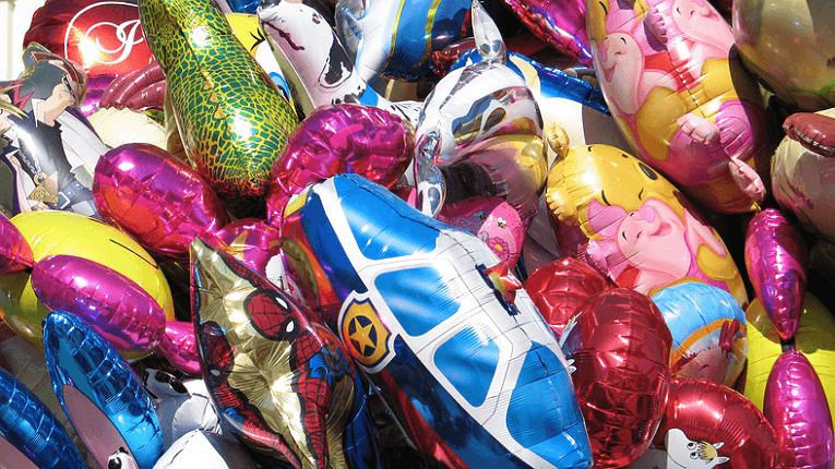 Finnish May Day celebrations always include an abundance of balloons.