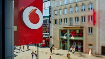 Cableway will continue to offer services for Vodafone Germany's cable network customers also found here in Cologne's busy Schildergasse shopping street.