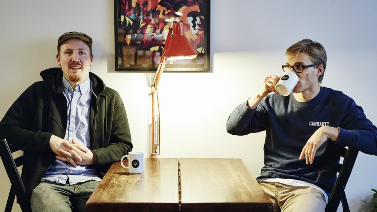 """""""I wanted to change people's perceptions of coffee,"""" says Lauri Pipinen (left), pictured with Samuli Ronkanen."""
