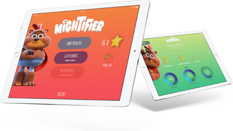 Mightifier allows school children to give positive feedback to one another.