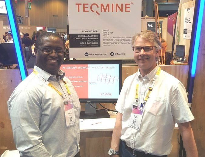 COO Phesto Mwakyusa (left) and CEO Hannes Toivanen (right) of Teqmine at Vivatech in Paris.