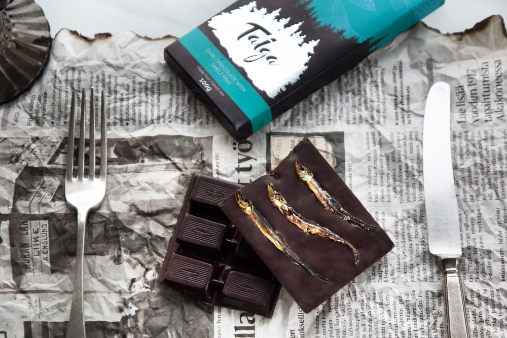 Migrating from wild in the rivers of Lapland to the company of chocolate. Do you dare to taste?