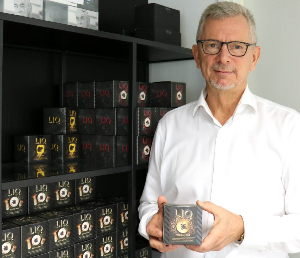 Co-founder Jari Nenonen has many favourites but the coffee-flavoured LIQ Morning is his top choice.