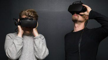 """We bring human-eye resolution to VR, which no one has done before,"" says CEO Urho Konttori (right)."