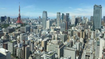 The new office is situated in the centre of Tokyo.