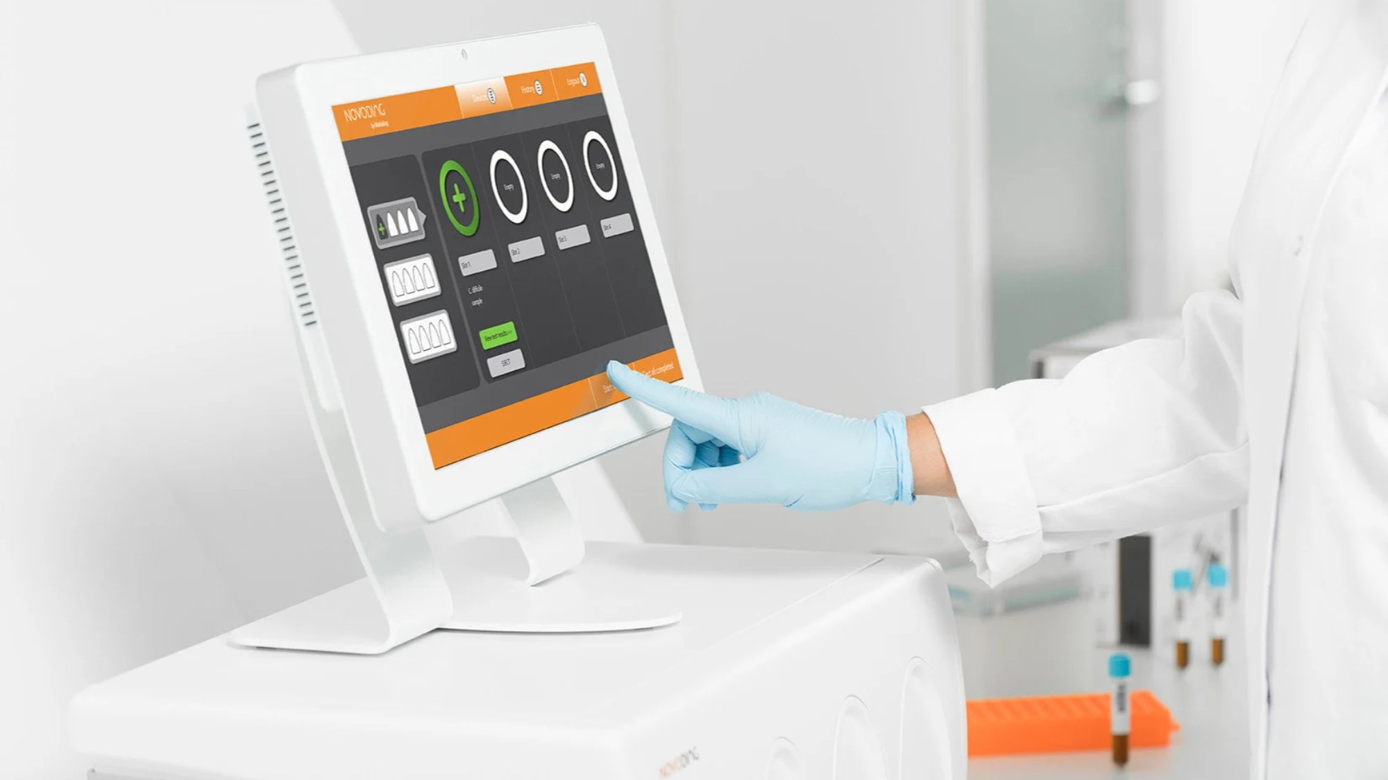 medical devices operated via touchpad