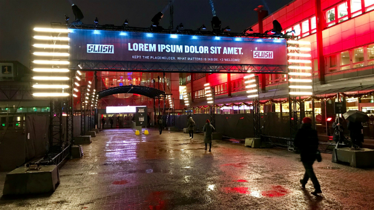 Slush 2018 - what matters is inside, indeed.