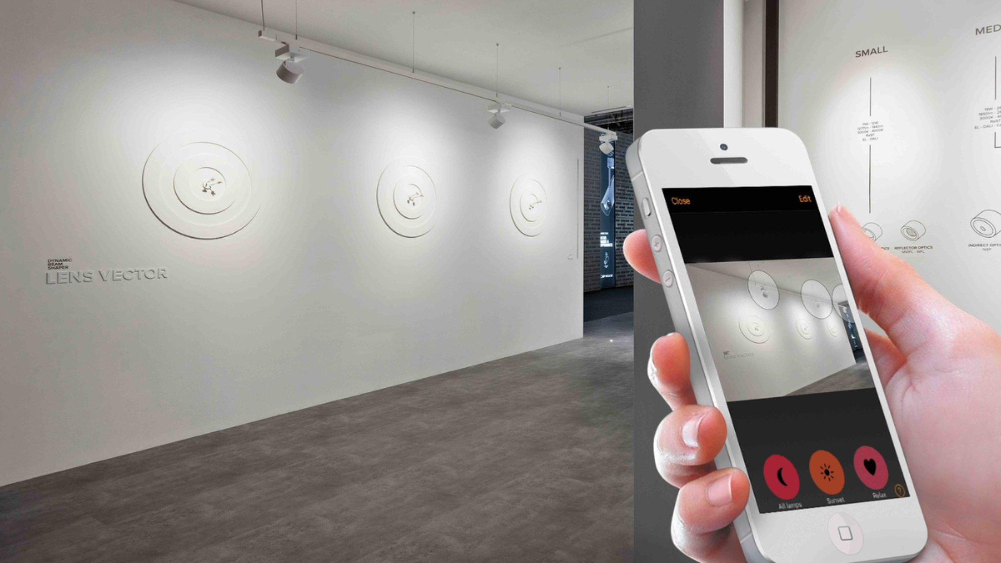 mobile phone used to wirelessly control lighting
