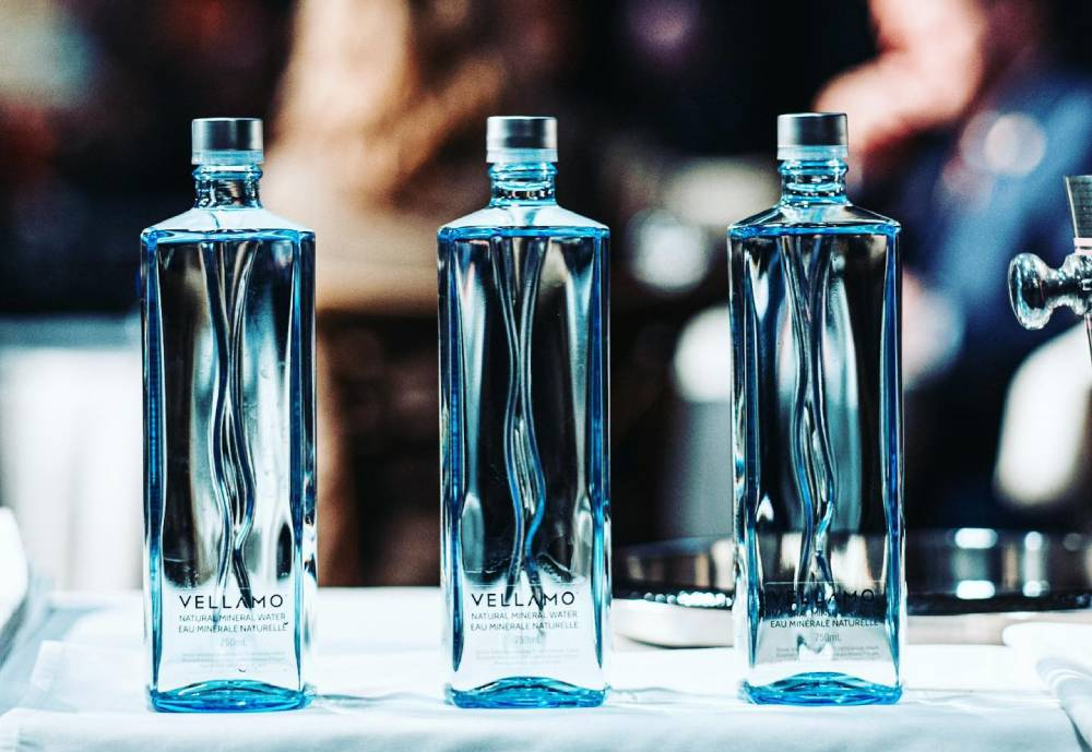 three bottles in a row