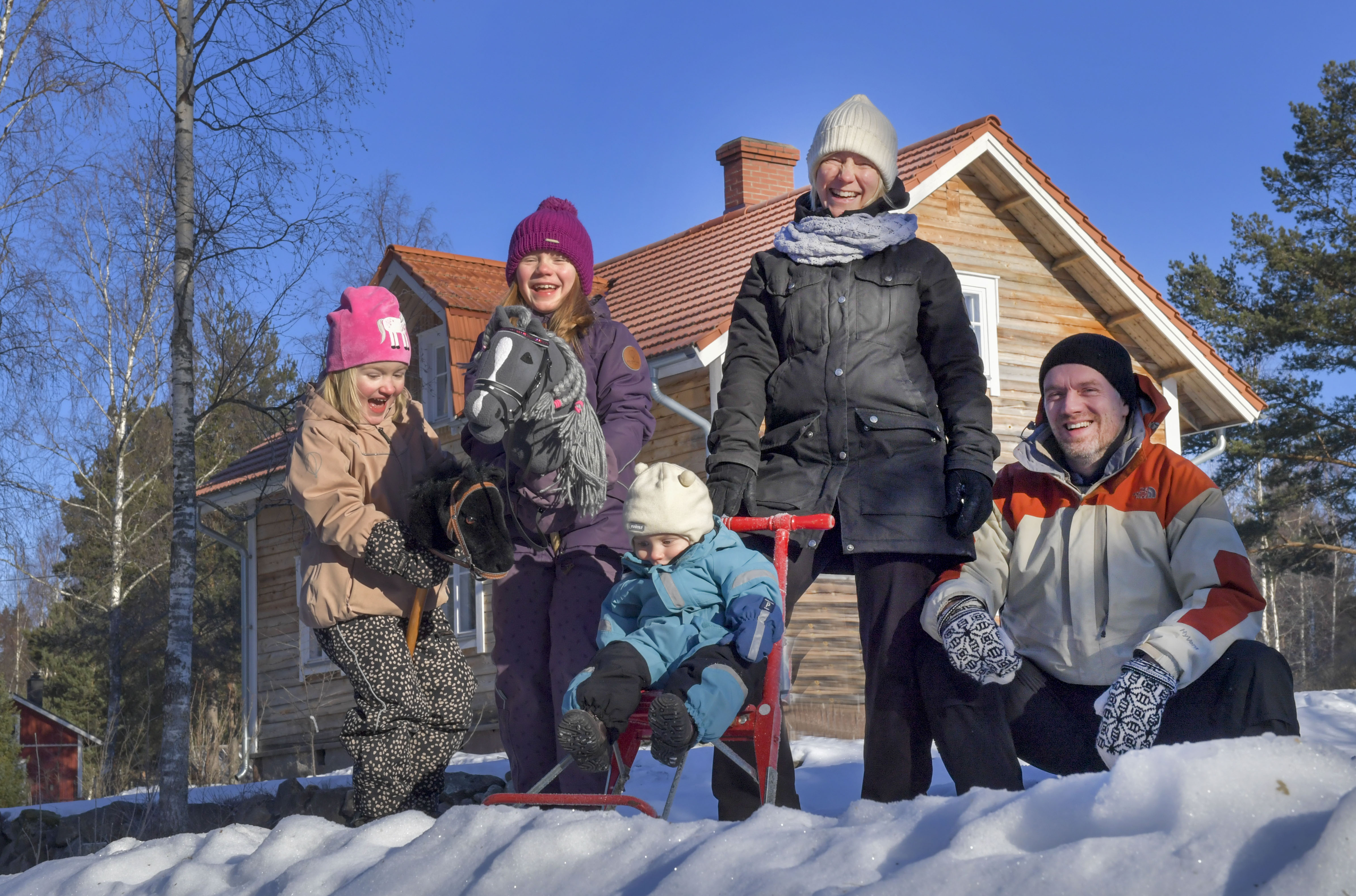 Pilvia started as Sami Niemi's passion project and the family has grown since. From left: Kerttu, Helmi, Anton, Lotta and Sami Niemi.