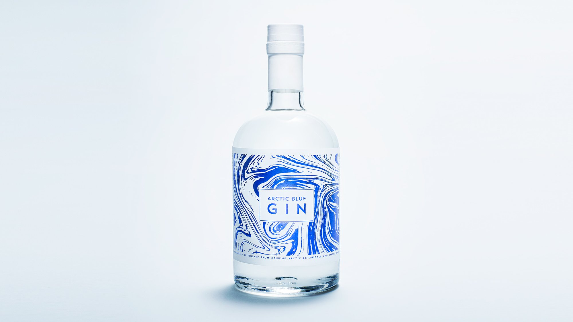 a bottle of gin