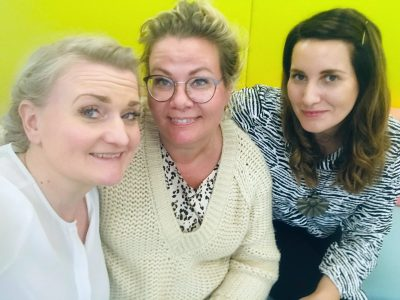 Huippu Education was founded by Laura Indrén (middle) and Anna Eghaghara (left) to provide Finnish-inspired teacher training globally. Pictured on the right is Elli Heino who will train teachers in Amman, Jordan, for the next six months.