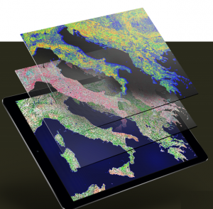 The company's solution combines open-source satellite imagery with other data sources, such as airplane footage and field measurements.