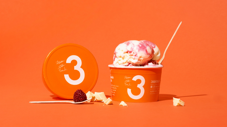 3 Friends ice cream packaging has been recognised in the US.