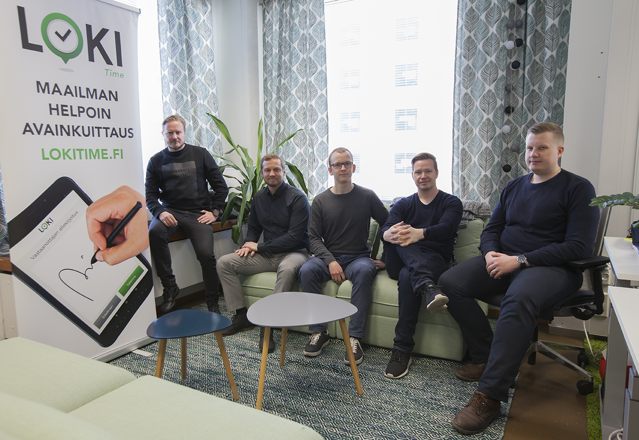 Sowellus believes LokiTime can become an industry standard for key management and control systems, says Tuomas Pohjola (second from left), the chief executive of the software firm.