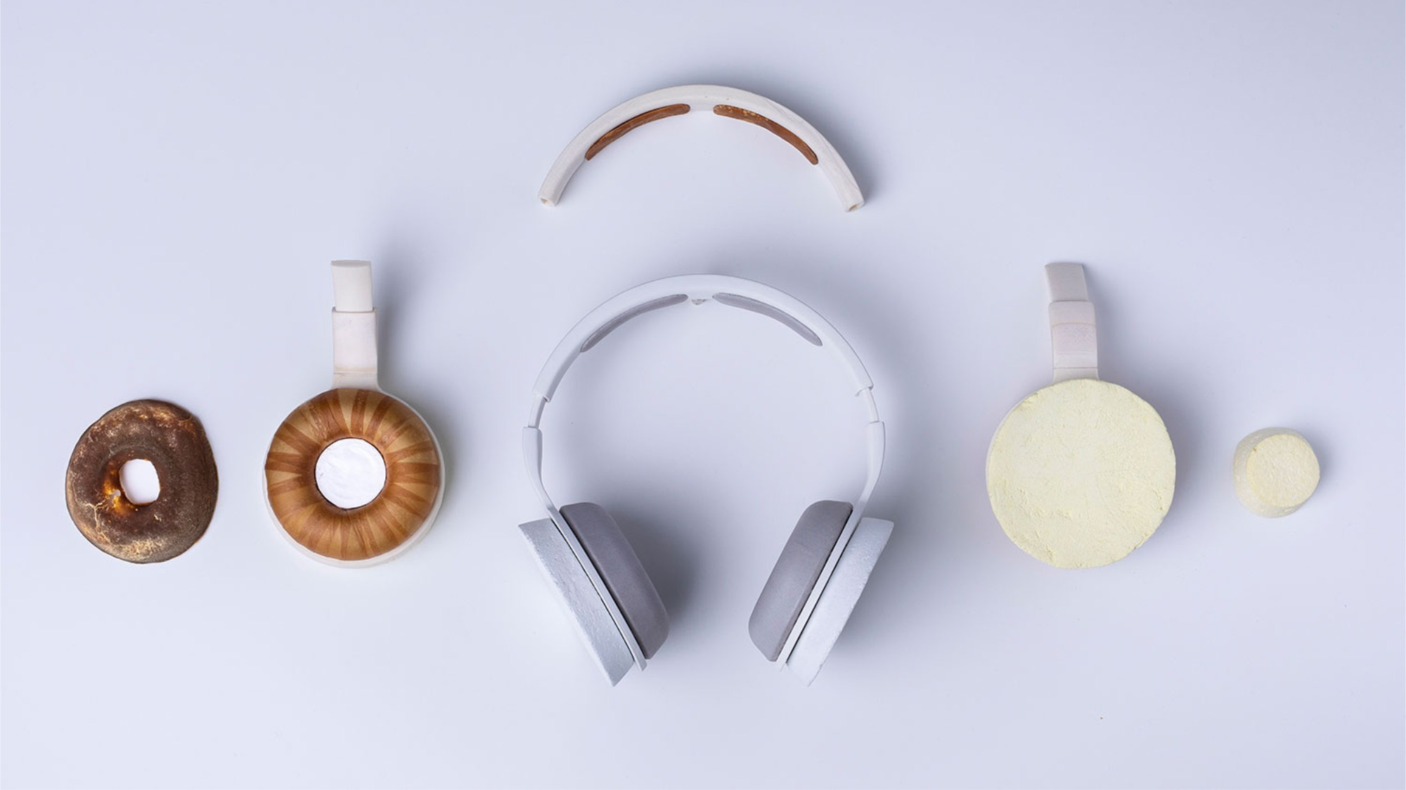 Headphones made from biomaterials