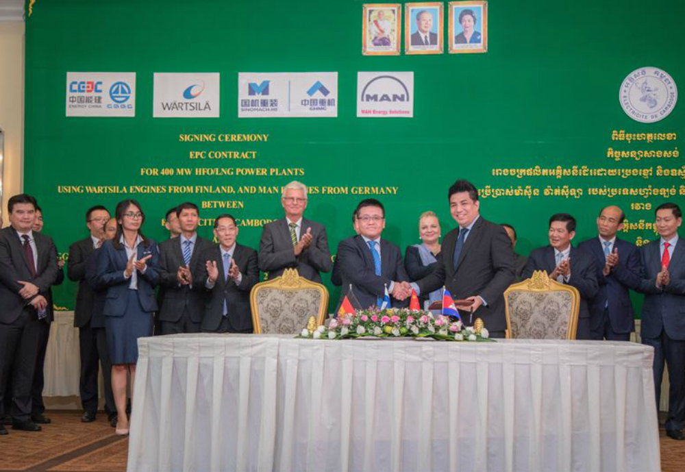 Finnish technology company Wärtsilä will supply a 200 MW flexible baseload power plant to Cambodia that will help meet the country's growing electricity demand. The order was placed by CGGC-UN Power Co, the Chinese state-owned main EPC contractor for the power plant project being built on behalf of Cambodia's state-owned utility Electricite du Cambodge. The plant will be delivered on a fast track basis due to the urgency of increasing the energy supply and will be located in the Kandal Province near the capital city Phnom Penh. It will operate on Wärtsilä 50DF dual-fuel engines with renewable energies, particularly solar power, to be eventually integrated into the system.