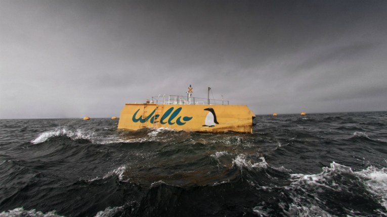 Finnish wave energy pioneer Wello's commercially ready Penguin wave energy converter has arrived in Orkney, Scotland, ready for deployment.