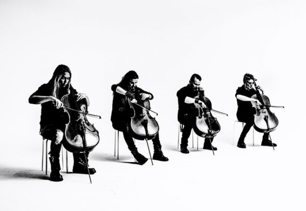 Finnish cello-metal band Apocalyptica gives a voice to oceans and icebergs in Victor Kossakovsky's film Aquarela. (Photo: Elina Manninen)