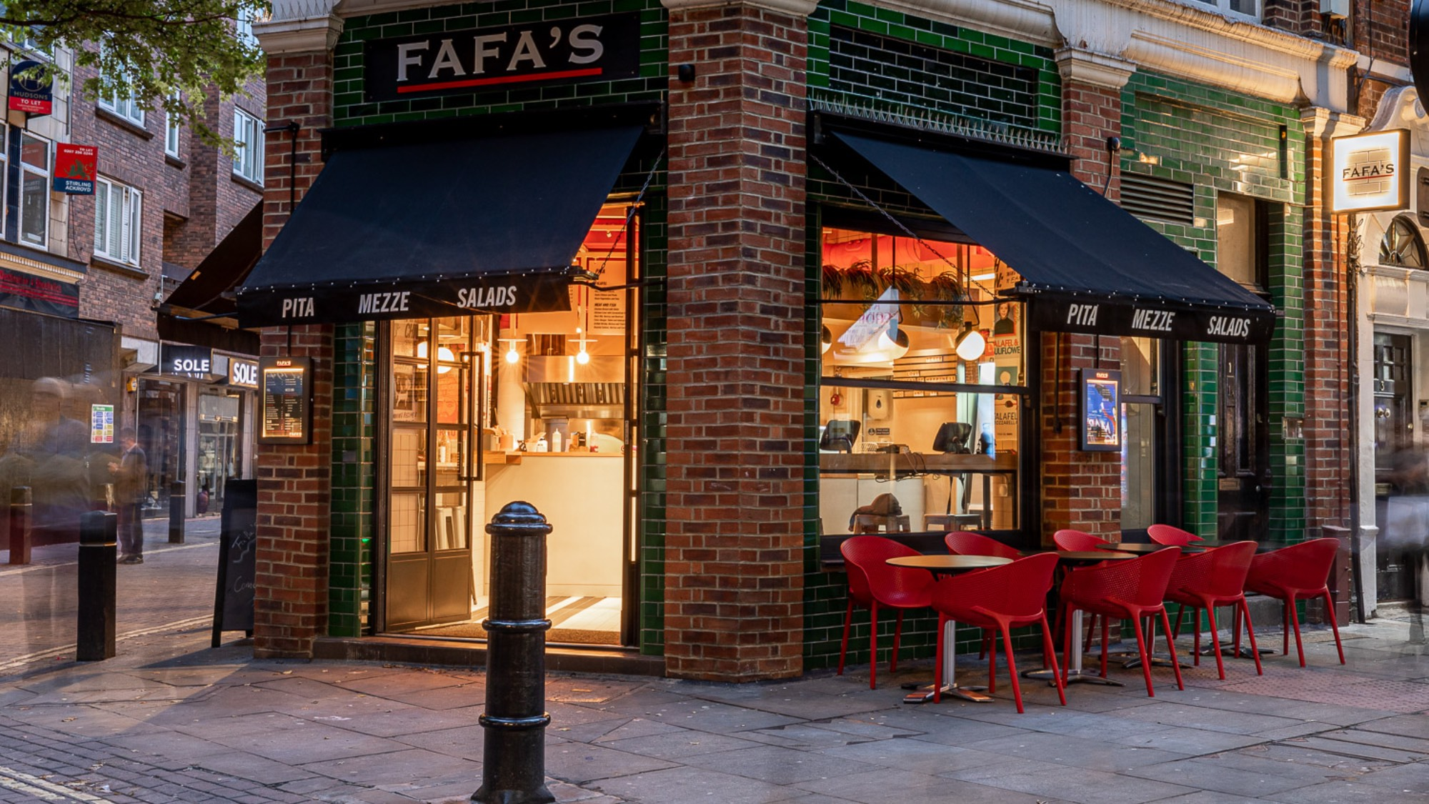 Street view of Fafa's new restaurant in London