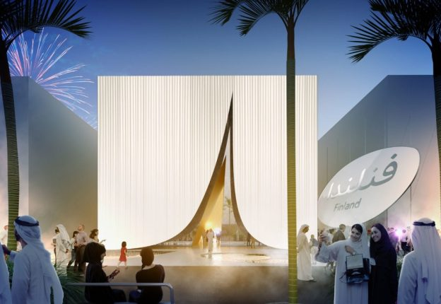 Shovels hit the dirt for the Finnish Pavilion ahead of the Dubai Expo 2020. (Photo: JKMM Architects)