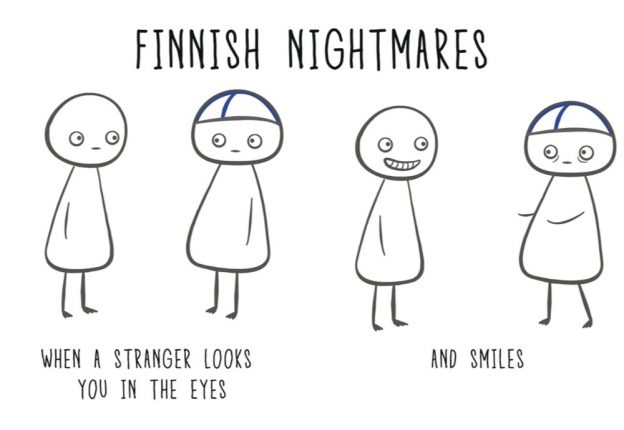 Finnish Nightmares has been empowering introverts since 2016 and has also evolved into a 96-page book illustrating unnecessarily awkward situations with the help of stickman Matti. (Photo: Karoliina Korhonen)