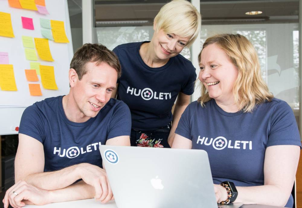 A trio of Huoleti employees