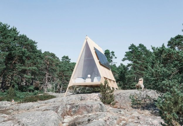 Finnish designer Robin Falck's Nolla cabin is a celebration of sustainability and simplicity. (Photo: Neste)
