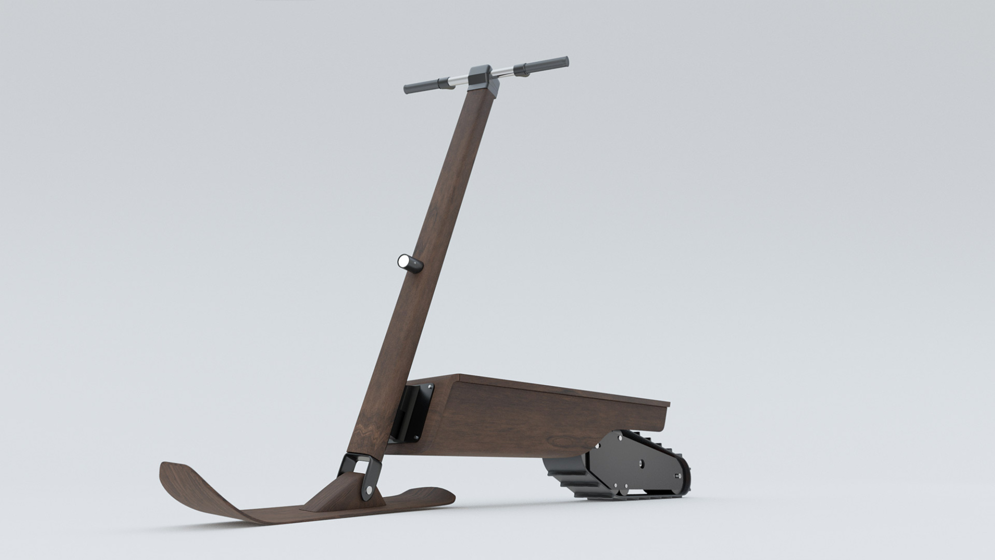 eLyly is a quiet and emission-free snow scooter. It has been designed for winter safaris, in particular.