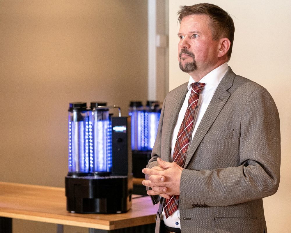 Gauffin is the man behind WineMill, but he's grateful for the help of Aalto University as well as the support he's received from Business Finland.